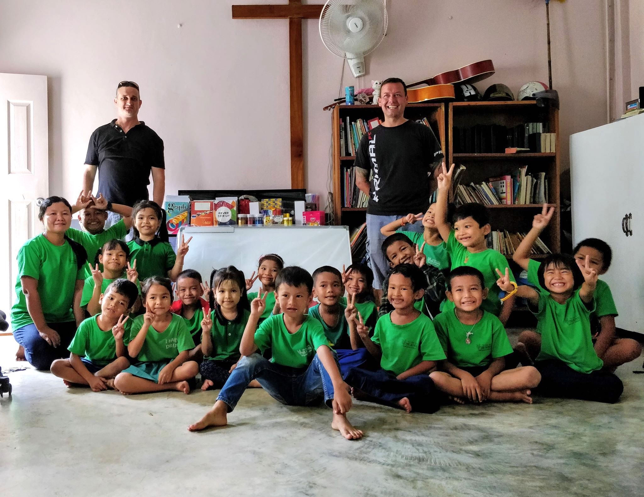 Rawai Pool League Donate school materials to Yes School, Rawai