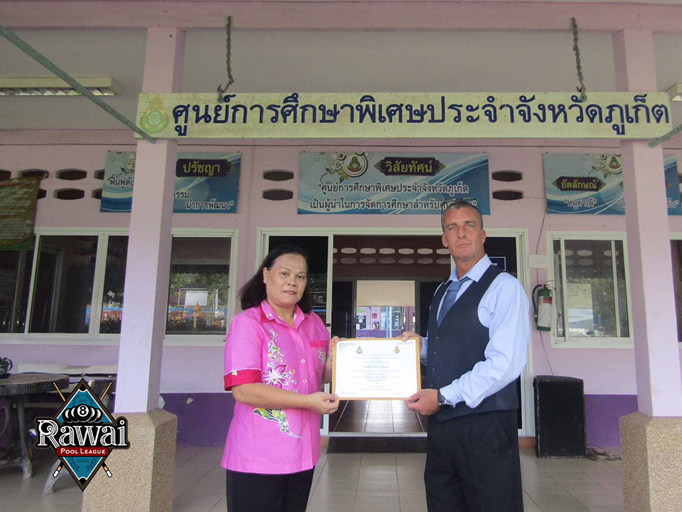 Rawai Pool League Donate for the Autistic Syndrome Center
